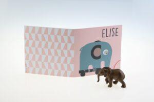babykaartjes met olifantje