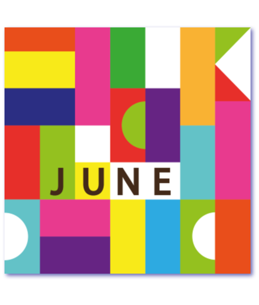 design geboortekaart june