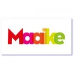 geboorteaankondigingen met de naam maaike. eenvoudig, strak en een tikje design zijn de kernwoorden van dit geboortekaartje