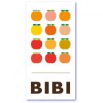 geboortekaart appel met de naam van jullie baby bibi. Rode appeltjes voor de geboortekaart voor jullie blozende appeltje (dochter)