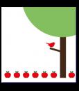 geboortekaart boom binnenzijde r