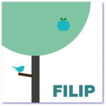 geboortekaart boom filip met boom en vogeltje