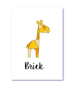 geboortekaart giraf