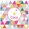 geboortekaart harlekijn is een lief geboortekaartje voor de aankondiging van jullie dochter. Op de voorzijde staat een vogeltje met een hartje en de naam coco