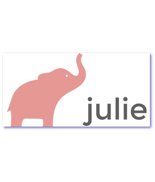 geboortekaart olifant julie