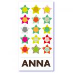 geboortekaart peertjes met de naam anna. Talrijke sterren voor jullie sterrenkindje
