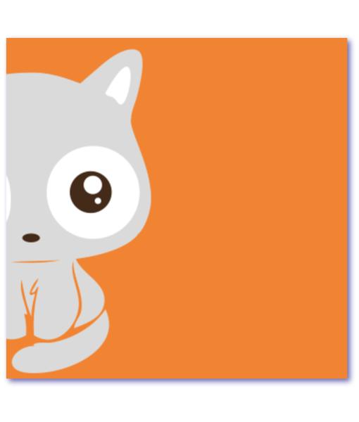 Trendy geboortekaart met poesje. Hip babykaartje met een kittig katje ook verkrijgbaar met een wasbeertje
