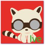 geboortekaart poesje met de naam ive. Wasbeertje met stoere vliegbril