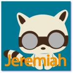 geboortekaart poesje met de naam jeremiah. Stoere wasbeer voor een stoere jongen