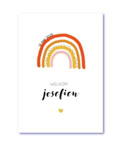 geboortekaart regenboog