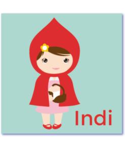 geboortekaart Roodkapje is helemaal in het thema van het sprookje van het meisje met de wolf. Een superlief geboortekaartje voor de dochter of het meisje dat jullie krijgen