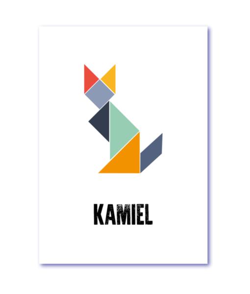 geboortekaart tangram