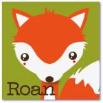 geboortekaart vosje met de naam roan. prachtige oranje tinten kleuren dit design geboortekaartj