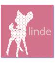 geboortekaartje bambi is een unieke babykaartje met het silhouette van een hertje en de naam linde