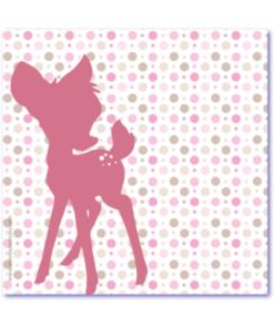 geboortekaartje bambi is een uniek en lief geboortekaartje met een silhouet van een hertje.