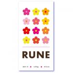 geboortekaartje bloem met de naam rune. Prachtige design bloemen op een wel heel originele geboortekaart