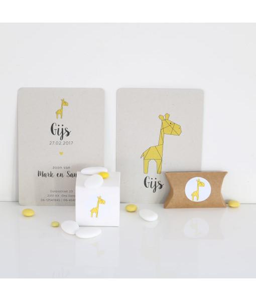 geboortekaartje giraf