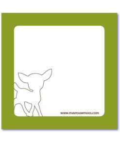 geboortekaart met silhouette van een hertje