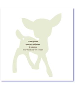originele geboortekaartjes met silhouette van een hertje