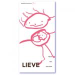 geboortekaartje kindertekening met de naam lieve. Onze zoon tekent baby in mama's buik. Of onze dochter tekent een kindje in de buik van mama