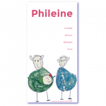geboortekaartje kindertekening met de naam phileine. Ik wil de tekening van onze zoon verwerken in een geboortekaartje