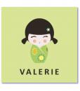 geboortekaartje kokeshi is een origineel geboortekaartje met een gelukspoppetje