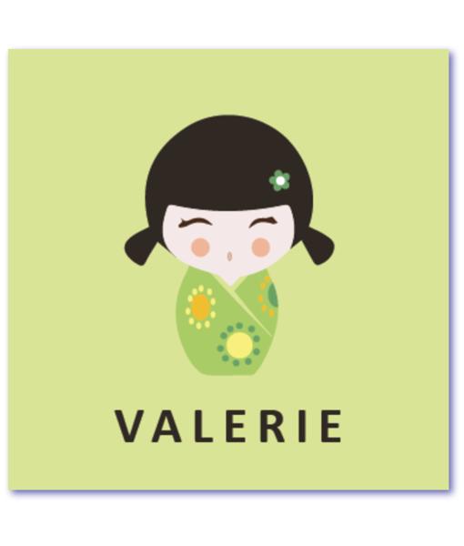 geboortekaartje kokeshi