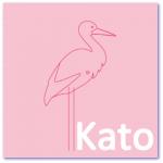 geboortekaartje ooievaar met de naam kato. ik zoek een geboortekaartje met een strakke ooievaar