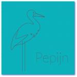 geboortekaartje ooievaar met de naam pepijn. Ik zoek een origineel geboortekaartje met een ooievaar voor een jongen