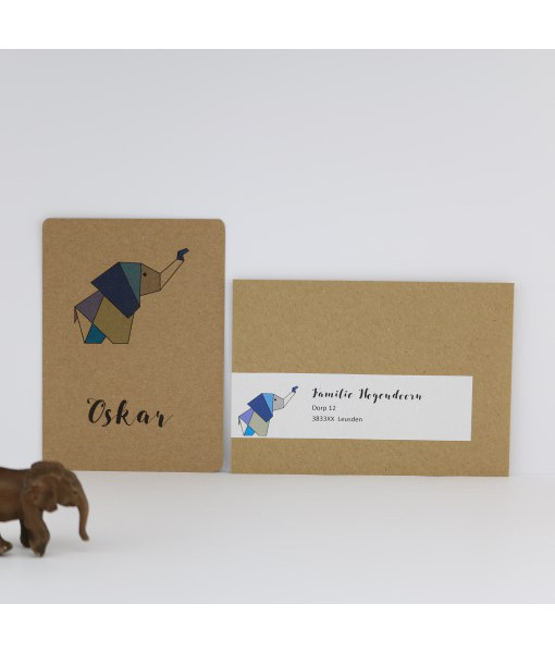 geboortekaartje-origami
