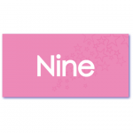 geboortekaartje roze nine