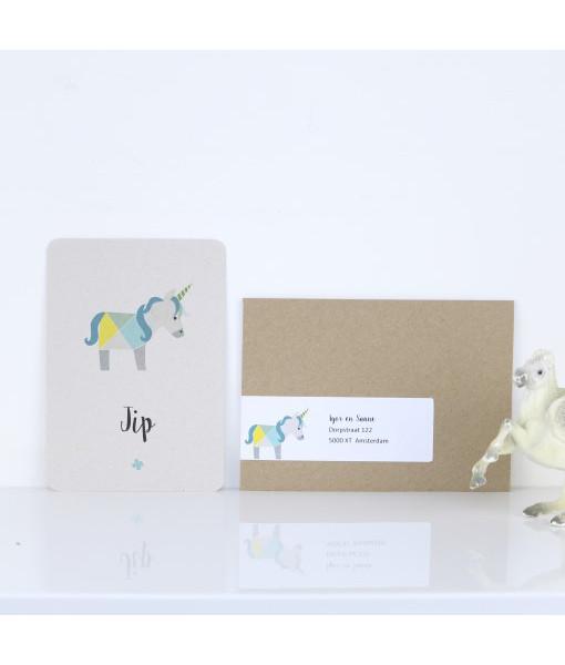 geboortekaartje-unicorn