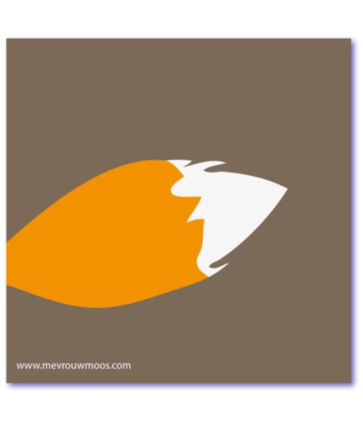 geboortekaartje vos met vossenstaart. Een vossenstaart brengt geluk