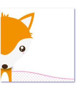 Trendy geboortekaartje vos. Lekker hip en strak design babykaartje