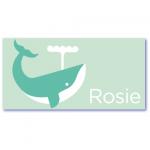 geboortekaartje walvis met de naam rosie. Babykaartjes met een walvis