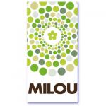 geboortekaartjes pastel met de naam milou. Vrolijke groene pasteltinten op dit trendy geboortekaartje
