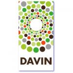 geometrische geboortekaartjes met de naam davin. Minimalistisch geboortekaartje met rondjes patroon
