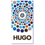 geometrische geboortekaartjes met de populaire jongensnaam hugo. Strakke design kaart van mevr. Moos