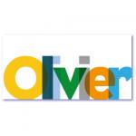 hip geboortekaartje met de naam olivier. Boem dat staat. Lekker helder en duidelijk de naam van jullie baby op de voorzijde van deze geboortekaart