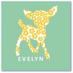 hippe geboortekaartjes met de naam evelyn. Geboortekaartjes met hertje zijn origineel en uniek
