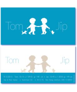 kaartje tweeling