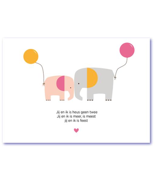 kartonnen geboortekaartje