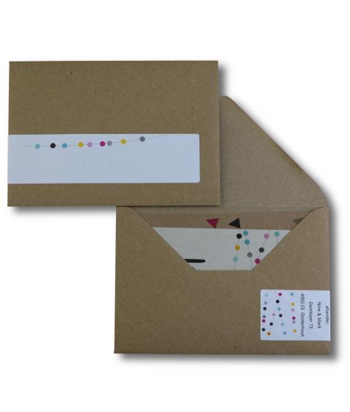 kraftpapier uitnodiging adresetiket