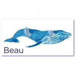 leukste geboortekaartjes met de naam beau. Hippe geboortekaartjes met een blauwe walvis