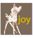 lieve geboortekaartjes met een hertje in silhouette. Deze originele geboortekaartjes zijn ontworpen door mevr. Moos