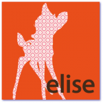 lieve geboortekaartjes met de naam elise. Een origineel geboortekaartje met een hertje, patroon is van het behang van de babykamer