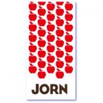 origineel geboortekaartje met de naam jorn. Less is more geboortekaartje, strak maar wel heel hip