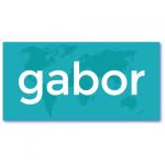 originele geboortekaarten met de naam gabor. Een strak ontwerp met een wereldkaart voor een nieuwe wereldburger