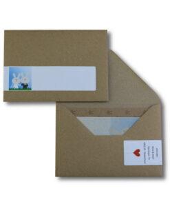 trouwkaart karton adresetiket