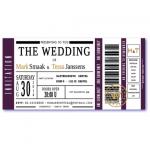 trouwkaart ticket
